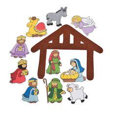Nativity Felt Cutouts - OrientalTrading.com