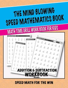 Mathematics speed testing time!! How about we work on addition and subtraction with this workbook! Designed for kids to enjoy and improve their math skills.