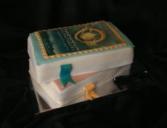 Stacked book cake