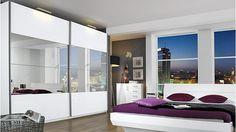 Schwebetürenschrank Verona mit zwei Türen und großer Spiegelfront - Möbel Mahler 24 (949,90€)