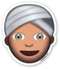 Man with Turban   Emoji Stickers