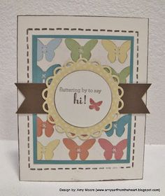 """Butterfly """"Dotty for You"""" card"""