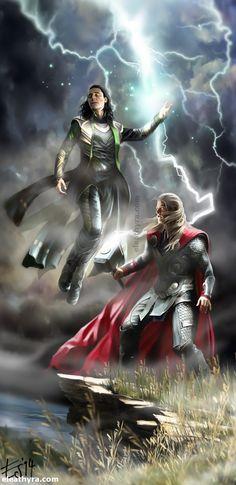 Lightning by eleathyra Fan Art / Digital Art / Drawings / Movies & TV©2014 eleathyra