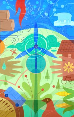 Clean energy is good energy~Tracy Walker illustration  www.momscleanairforce.org