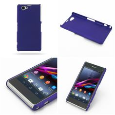 PDair Rubberized Hard Cover for Sony Xperia Z1 Compact D5503 (Purple)