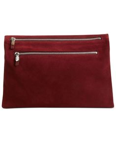 DKNY Handbag, Crosby Large Suede Reversible Clutch [Macy's]