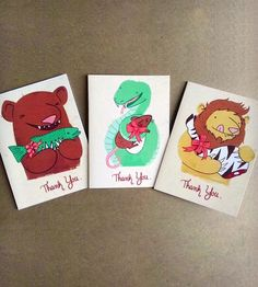 Thank You Cards Set by Heather Lund Illustration on Scoutmob Shoppe
