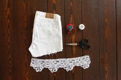 DIY Shorts with lace