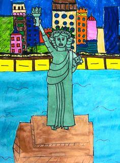 Lady Liberty Art Lesson   Deep Space Sparkle
