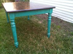Turquoise distressed table instructions