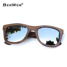 e845f4b77b8a5 BerWer 2018 Fashion Polarized Bamboo Wooden Sunglasses M W Discount Online  Shopping