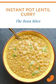 This instant pot lentil curry is a super easy Indian-inspired curry dish. Best as a green or brown lentil curry, it's a creamy coconut-infused main course or side dish when serving Indian cuisine. It's also a vegetarian and vegan lentil curry. Healthy Italian Recipes, Best Vegetarian Recipes, Lentil Recipes, Bean Recipes, Curry Recipes, Indian Food Recipes, Delicious Recipes, Ethnic Recipes, Quick Dinner Recipes