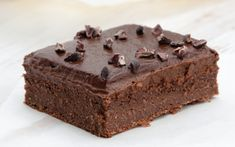 You've read that right—the batter for these brownies can be made in a blender! Not only does this mean minimal cleanup, but it's also quick and easy to make. These brownies are topped with a decadent avocado frosting and cocoa nibs. They taste so rich, you would never guess they are vegan!
