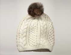 Holiday gift idea for the cold-headed    The classic wool-blend soft cable-knit hat gets cute-ified with a faux-fur pom-pom topping. Cable-knit pom-pom hat, $30, gap.com