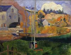 Gauguin:Moulin David, Brittany 1894