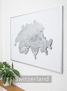 printed fine art, custom elevation models, visualization of topographical data, DEM models, print Art Work, 3d Printing, Fine Art, Map, Models, Art Prints, Printed, Home Decor, Artworks