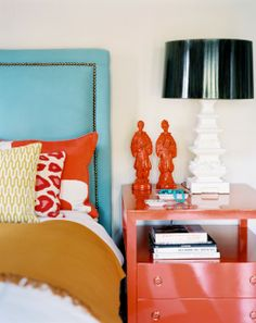 orange/persimmon and turquoise together