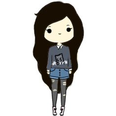 Tumblr ❤ liked on Polyvore featuring fillers, chibis, icons and tumblr girls