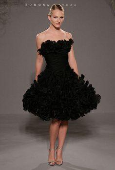 2011 New Black Wedding Dresses by Romona Kezeva Couture