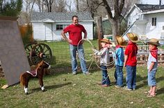 COWBOY BIRTHDAY PARTY-ROPE THE HORSE GAME (FROM THE BIRTHDAY BLOG)