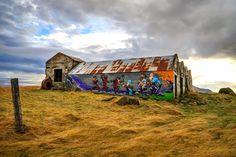 Colorful Farm Graffiti, Iceland. Photo the expert vagabond