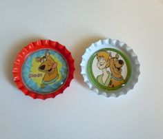 Scooby Doo bottle cap magnets. $2.50, via Etsy.