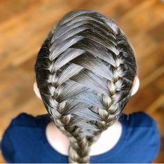 "263 Likes, 14 Comments - Little Girl Hairstyles (@braidsforlittlegirls) on Instagram: ""Cute elastics and wrap around braid style, credit: @luv_that_hair ❤️"""