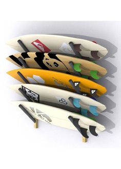 Surfboard wall racks: protect and store your favorite sticks Surfboard Wall Rack, Surfboard Storage, Best Surfboards, Stick Photo, Surf Shack, Crib Sets, Wall Racks, Wakeboarding, Projects To Try