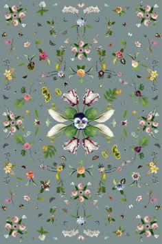 "Garden of Eden Grey by Edward van Vliet. Dimensions 200 x 300 cm | 78.7 x 118.1"""