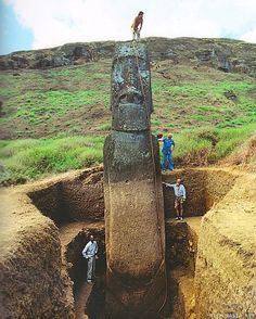 The Easter Island's statues