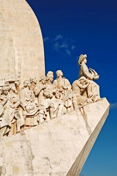 Discovery Monument in Lisbon built on the north bank of the Tagus River in 1960