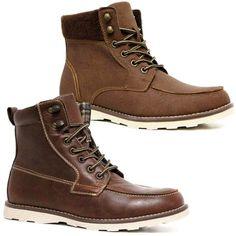 Mens Ankle Boots Military Biker Dealer Chukka Desert Walking Army Boots Shoes | eBay