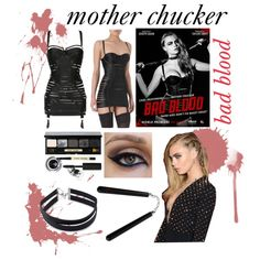 Mother Chucker - Taylor Swift, 'Bad Blood' ft. Cara Delvigne by ele3anor on Polyvore featuring Bordelle, Forever 21, Bobbi Brown Cosmetics, GALA, modern, taylorswift, Swifties, FemmeFatale and kickass