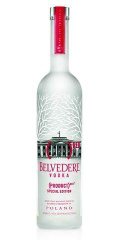 Belvedere Vodka Bottle Red