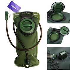 CAMTOA Hydration Bladder Water Reservoir Water Bladder with  Turn Bite Valve 2L Backpack System for BicyclingCampingHiking *** Check this awesome product by going to the link at the image.