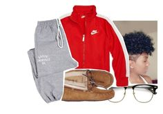 """Sweater weather "" by eazybreezy305 ❤ liked on Polyvore featuring NIKE, UGG Australia, cute, sweaterweather and Fall2016"