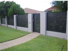 Unique Modern Fence Design Ideas To Enhance Your Beautiful Yard Unique M. Unique Modern Fence Design Ideas To Enhance Your Beautiful Yard Unique M. House Fence Design, Modern Fence Design, Wooden Fence Gate, Fence Options, Fence Ideas, Backyard Layout, Fence Styles, Building A Fence, Front Fence