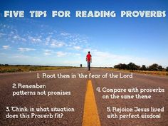 Beyond the Sunday School - A Bible Blog by Jacob Cherian: Reading Proverbs