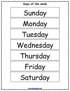 Free printable for kids (toddlers/preschoolers) flash cards/charts/worksheets/(file folder/busy bag/quiet time activities)(English/Tamil) to play and learn at home and classroom. Free Days Of The Week Printables, Days Of The Week Activities, Quiet Time Activities, Education Quotes For Teachers, Quotes For Students, Quotes For Kids, Writing Practice Worksheets, Worksheets For Kids, Free Preschool
