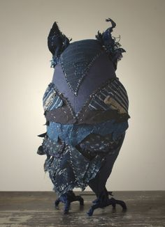 Fiber art owl - Ann Wood Handmade