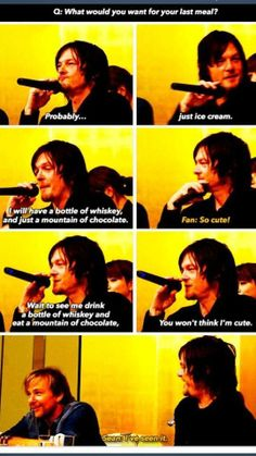 Norman Reedus on his last meal
