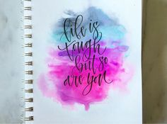 Got to finally spend some quality time with some old roommates the past few days! It was such a great time with some good friends and I… Calligraphy Quotes Doodles, Brush Lettering Quotes, Watercolor Lettering, Hand Lettering Quotes, Calligraphy Art, Watercolor Art, Bff Drawings, Cool Art Drawings, Inspirational Quotes Wallpapers