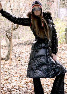Daunen Mantel schwarz: ADD, Italy