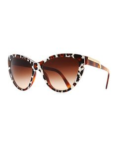 http://fave.co/1g662br Stella McCartney Leopard-Print Cat-Eye Sunglasses, Brown - Neiman Marcus