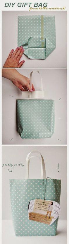 Diy_embalagens de natal sacolinha                                                                                                                                                                                 Mais