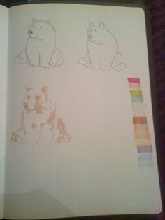 bear half drawn