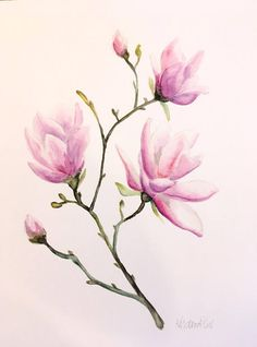 Hey, I found this really awesome Etsy listing at https://www.etsy.com/listing/541429233/purple-magnolia-print