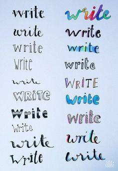 Easy bullet journal lettering | Lettering handwritten #bulletjournal #bujo