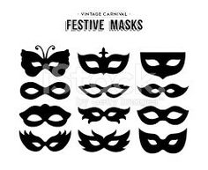 Venetian Mask Silhouette Clipart by Origins Digital Curio