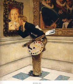 Art Critic by Norman Rockwell. Regionalism. genre painting